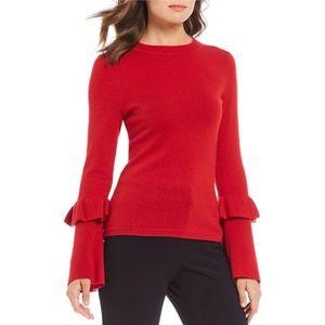 Antonio Melani MelindaRuffleSleeveCashmere Sweater